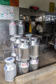在泰国的化身合作社运输原料奶 — 图库照片