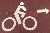 Cyclists symbol sign — Stock Photo