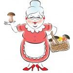 Illustration of grandmother — Stock Vector