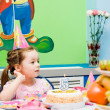The birthday girl. festive table — Stock Photo