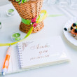 Royalty-Free Stock Photo: Notebook wishes for wedding party