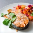 Grilled salmon and vegetables — Stock Photo #24421287