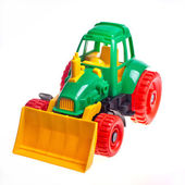 The toy tractor — Stock Photo