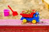 Truck in the sandbox — Stock Photo
