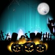 Halloween pumpkins - Imagen vectorial
