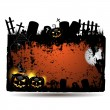 Halloween banner design - Image vectorielle