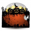 Halloween banner with pumpkin - Stockvectorbeeld