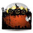 Halloween banner with pumpkin - Stock Vector