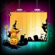Halloween banner design - Imagen vectorial