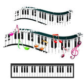 Piano keyboard — Stock Vector