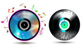 Vinyl record with CD — Stock Vector