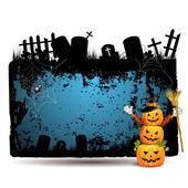 Cadılar bayramı banner tasarımı — Stok Vektör