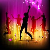 Tanzenden silhouetten — Stockvektor