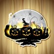 Halloween pumpkins — Vector de stock #14035018
