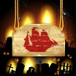 Royalty-Free Stock Vector Image: Pirate ship