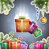 Christmas card — Vecteur