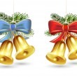 Christmas golden bells - Stock Vector