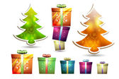 Christmas gift box — Stock Vector
