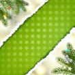 Christmas green background — 图库矢量图片
