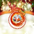 Royalty-Free Stock Vector Image: Santa and Christmas ball