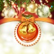 Christmas card with bells — Stock Vector #17839841