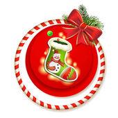 Kartki świąteczne z skarpety — Wektor stockowy
