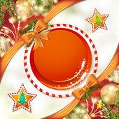 Noel arka yay ile — Stok Vektör