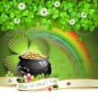 Saint Patrick&#039;s Day card - Stock Vector