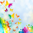 Royalty-Free Stock Obraz wektorowy: Background with butterfly