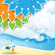 Background over summer beach — Stock Vector
