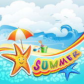Summer beach — Stock Vector