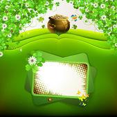 St. Patrick's Day card design — Stockvektor