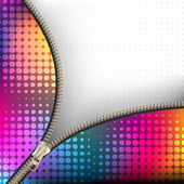 Background with metallic zipper — Stock Vector