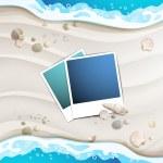 Summer beach with photos — Stock Vector #46996533