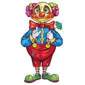 Funny cartoon clown — Stock Vector