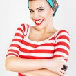 Stock Photo: Energetic beautiful smiling woman