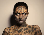 Sexy leopard woman — Stock Photo