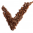 Checkmark from coffee beans — Stock Photo