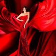 Woman in red dress — Foto de Stock
