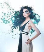 Mulher de splatter e strass — Foto Stock