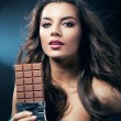 Royalty-Free Stock Photo: Sexy woman with chocolate and desire