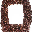 Coffee beans border - Stock Photo