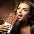Stock Photo: Passionate wombiting chocolate