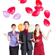 Corporate party with balloons — Stock Photo