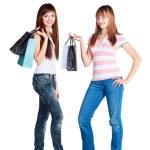 efter shopping — Stockfoto