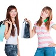 Two girls with bags — Foto de Stock