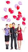 корпоративная вечеринка с воздушными шарами — Стоковое фото