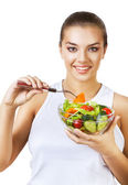 Happy girl on diet — Stock Photo