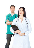 Professional doctors in uniforms — Stock Photo