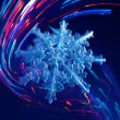 Snowflake in colorful abstract lines — Stock Photo